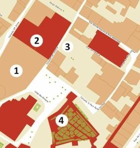 mapa do recinto
